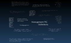 Management TIC
