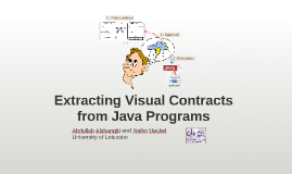 Extracting Visual Contracts from Java Programs
