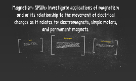 Magnetism: SPS10c: Investigate applications of magnetism and