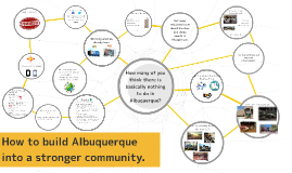 Copy of How to make Abuquerque into a stronger community.