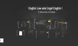 English Law and Legal English