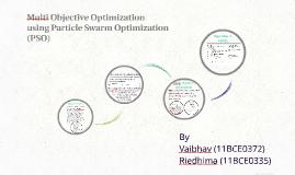 Multi Objective Optimization