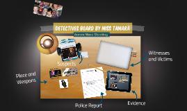 Detective's Board Sabella
