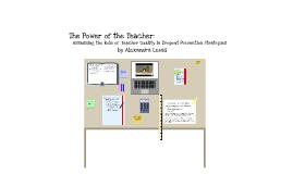The Power of the Teacher