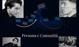 Persona e Comunità