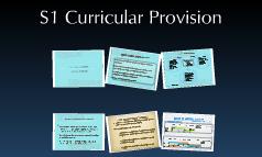 S1 Curriculum ahd Enhanced Provision
