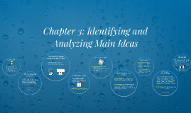 Chapter 3: Identifying and Analyzing Main Ideas