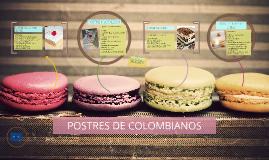 POSTRES DE COLOMBIANOS