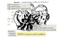 WWII Causes and Leaders