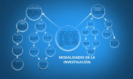 Copy of MODALIDADES DE LA INVESTIGACION