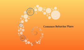 Common Behavior Plans