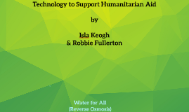 technology to support humanitarian aid