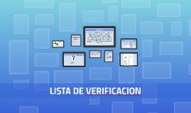 Copy of LISTA DE VERIFICACION