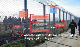 When state overrides basic Human Rights: Hungary vs. refugees