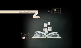 Journal and Speech