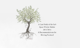 A Case Study of the Safe Space Shelter 2015/2016