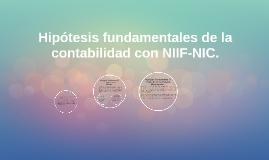 Hipótesis fundamentales de la contabilidad con NIIF-NIC.