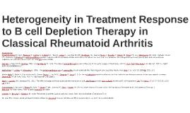 Heterogeneity in treatment response to B cell deple