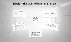 Black Wall Street Oklahoma in 1920s