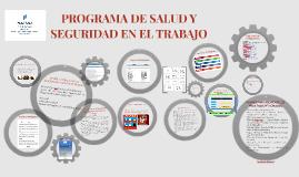 PROGRAMA DE SALUD Y SEGURIDAD EN EL TRABAJO