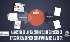 DIAGNÓSTICO DE LA PIEZA 5GM.887.233 EN EL PROCESO DE INYECCI