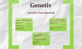 Genetiv