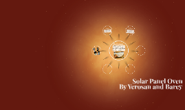 Solar Panel Oven