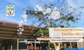 Estructura Curso Lectivo 2015