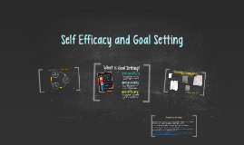 Goal Setting and Self-Efficacy