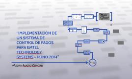 """""""IMPLEMENTACION DE UN SISTEMA DE CONTROL DE PAGOS PARA EMTEL"""