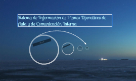 Sistema de Información de Planes Operativos de Aula y de Com