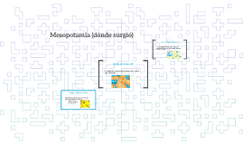 Mesopotamia (dónde surgió)