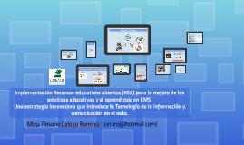 El uso de los Recursos educativos abiertos (REA) para la mej