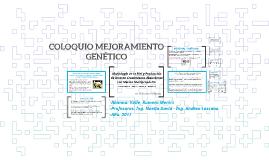 Coloquio Mejoramiento Genético
