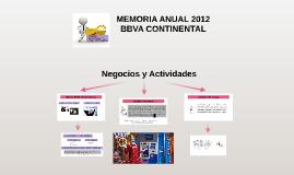 MEMORIA ANUAL 2012 BBVA CONTINENTAL