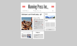 Manning Press Inc.,