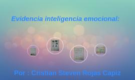 Evidencia inteligencia emocional: