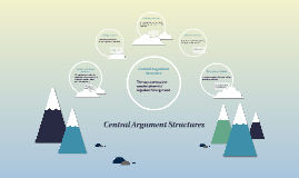 Copy of Central Argument Structures