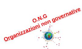 ONG (ORGANIZZAZIONI NON GOVERNATIVE)