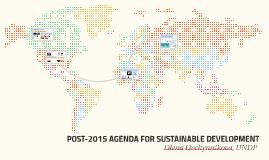 POST-2015 AGENDA FOR SUSTAINABLE DEVELOPMENT