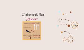 Síndrome de Pica