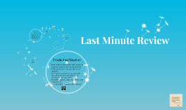 Last Minute Review