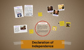 Copy of Declaration of Independence