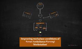Improving workplace conditions of 'Aman Ambulance Korangi Wo