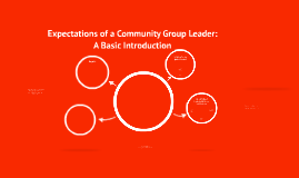 Expectations of a Community Group Leader