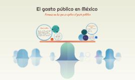 El gasto público en México