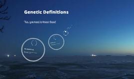 Genetic Definitions