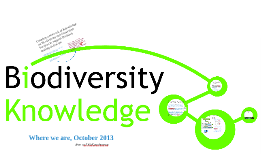 BiodiversityKnowledge -Status October 2013