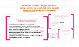Copy of Colectivo, valores, lengua y cultura: componentes de la cali