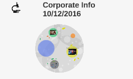 Corporate Info 10/5/2016 (Happy Founder's Day, y'all!)